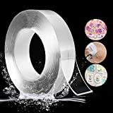 FindAndBuy Double Sided Adhesive Tape, Transparent Strong Adhesive Traceless Tape Removable Washable and Reusable Anti Slip Tape for Home Supplies | 3 Meter