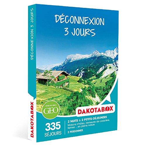 DAKOTABOX - Coffret Cadeau - DÉCONNEXION 3 JOURS - 335 maisons d'hôtes, demeures de caractère, fermes. en pleine nature