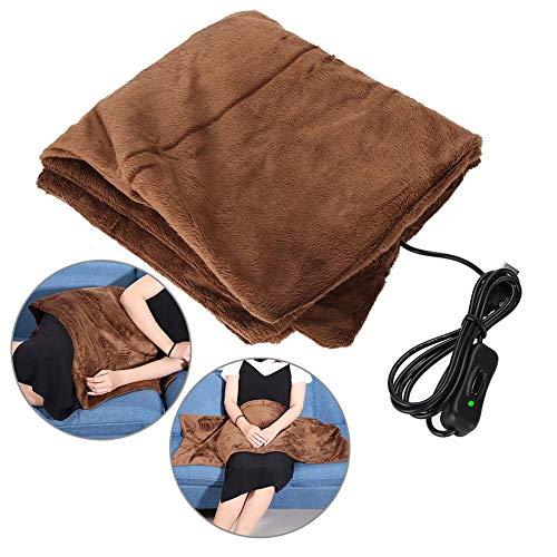 Elektrisch beheizte Decke, USB-Heizdecke Premium Super Soft Flanell Winter Warm Heizung Matratze Heimauflage Digital Control Comfort Underblanket(45 * 100cm)