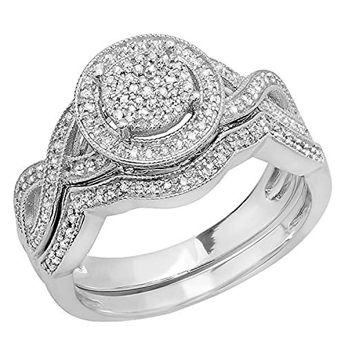Dazzlingrock Collection 0.50 Carat (ctw) Sterling Silver White Diamond...