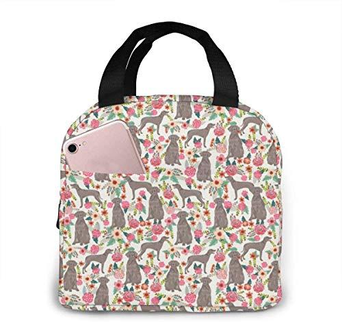 Weimaraner - Bolsa de almuerzo para mujeres,niñas,niños,bolsa de picnic aislada,bolsa gourmet,bolsa cálida para el trabajo escolar,oficina,camping,viajes,pesca
