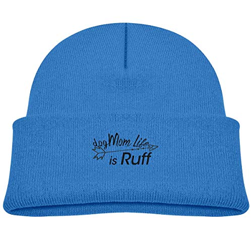angwenkuanku Mom Life is Ruff Baby Beanie Hat Toddler Winter Warm Knit Watch Cap for Kids