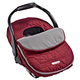 JJ Cole - Car Seat Cover, Weather Resistant Blanket-Style Canopy Designed to Protect from The Cold and Winter Weather, Wine Triangles, Birth and Up