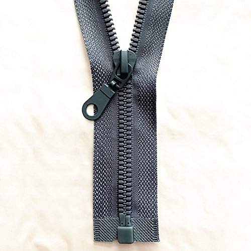 2-5 piezas, 5# 25-70 cm cremallera de resina desmontable apertura de apertura cierre automático ecológico cremallera de plástico para traje de costura-gris, 2 piezas, 30 cm