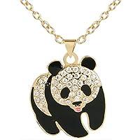 EVER FAITH Austrian Crystal Enamel Lovely Squabby Panda Pendant Necklace Clear for Children, Kid, Women