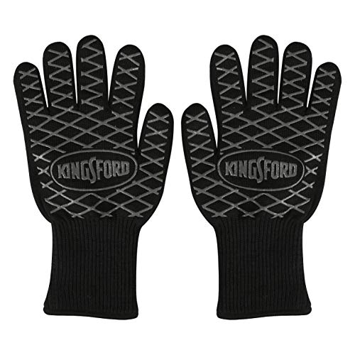 Kingsford Grilling BB12383 2 Count BBQ Grill Gloves, Black