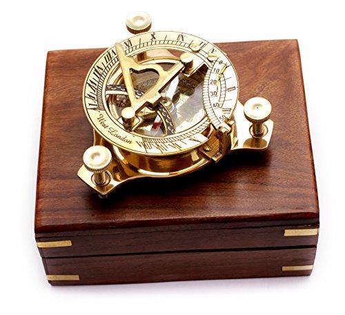Captain de triangle en laiton cadran solaire Boussole en laiton 8,1 cm Bureau compas nautique Decor Home Décoration Executive Coffret cadeau promotionnel