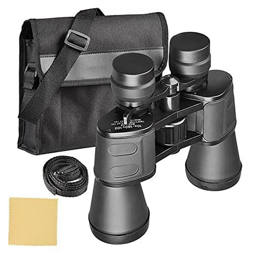 10 -180 x 100 prismáticos HD para adultos, alta ampliación, gran alcance, gran alcance, gran angular, prismáticos para observación de aves, para senderismo, caza, conciertos