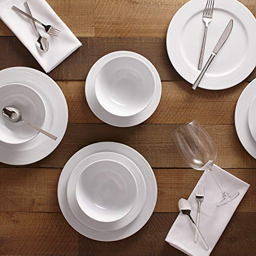 Safdie Premium Dinnerset Dinner Set Premium Dinnerware Set, White (Pack of 12)