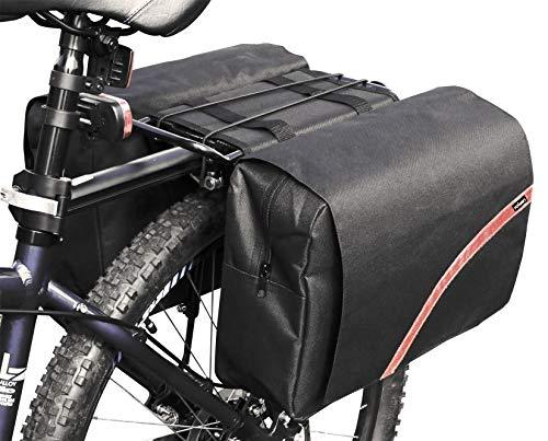 Rolson Large Double Bike Pannier Bag Bolsa para Bicicleta, U