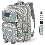 GZ XINXING 43L Large 3 Day Molle Assault Pack Military Tactical Army Backpack Bug Out Bag Rucksack Daypack (ACU)