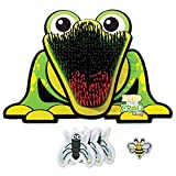 Franklin Feed The Frog Kids Target Game - Fun Interactive Game for Indoor and Outdoor - Play with Friends and Family - Includes Frog Target, 3 Flies and 1 Bee