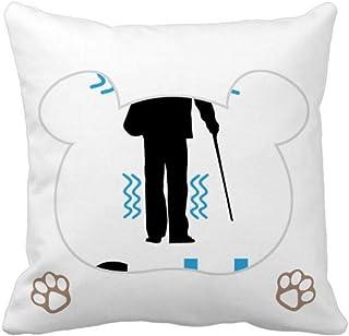 OFFbb-USA - Funda cuadrada para almohada de viejo hombre para clima frío