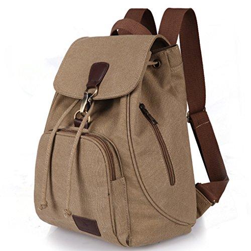 WITERY Women Ladies Retro Canvas Backpack Vintage Design Trendy Rucksack Casual Travel Shoulder Bag/Portable Handbag/College Daypack Backpack/Computer Laptop Bags