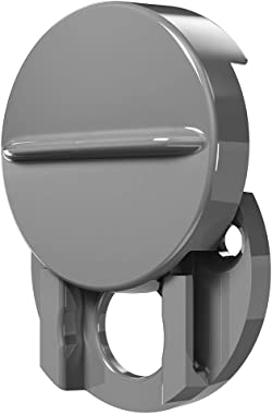 Defender Security S 5086 1-1/2 in. Outside Diameter, Fixed Door Viewer Privacy Cover, Plastic Construction, Satin Gray Color