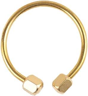 Elenxs Unisex Nut Locking Brass Keyring Keys Holder Keychain Daily Outdoor Hiking Key Ring