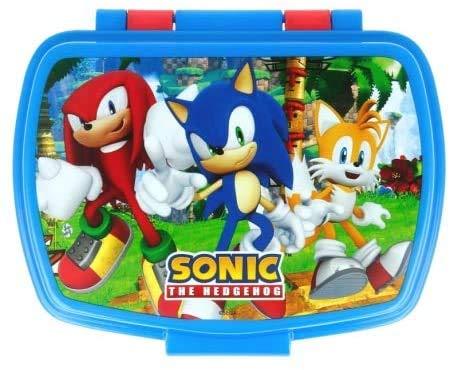 ILS I LOVE SHOPPING Contenitore Termico Porta merenda Scatola Sandwich Box per Bambini (Sonic)