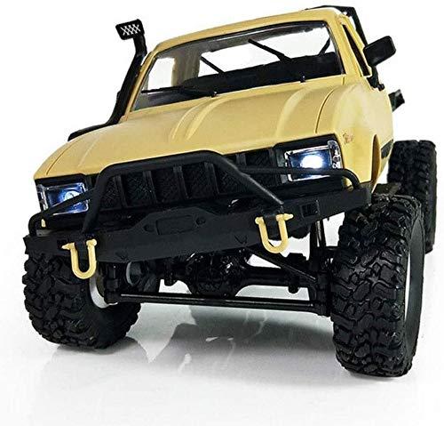 Paelf Modelo de control de juguete remoto de 2.4GHz, pasatiempo RC 4WD Traza de alta velocidad Vehículo off-road, ensamblaje de camionetas de recolección llantas huecas suaves iluminación led, lo mejo