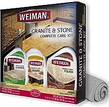 Weiman Granite Cleaner Polish and Sealer - Kit - Seal and Protect For Granite Marble Soapstone Quartz Quartzite Slate Limestone Corian Laminate Tile Countertop and More