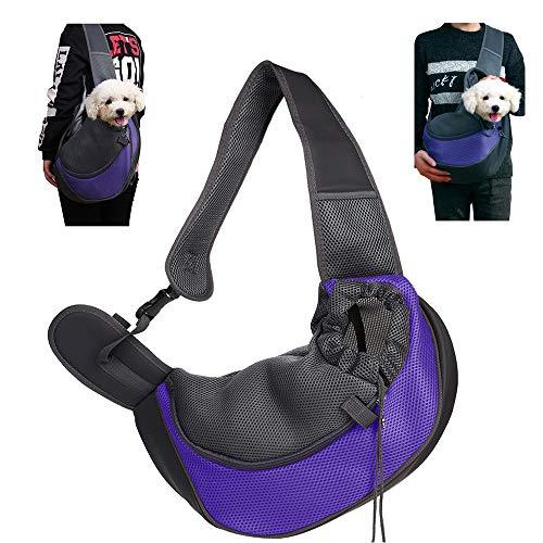 CHUER Mochilas para Perros Gatos, Portador para Mascotas Pequeñas, Transportín para Mascotas Mochila al Aire Libre del Viaje para Mascotas del Peso hasta (3kg)