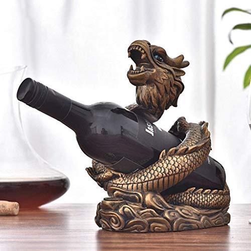 Estantes para Vino Estante para Vino Estante para Organizador De Vino Estante para Botellas De Vino Estante para Vino De Dragón Chino Creativo Estante para Botellas De Vino De Pie Libre Deco