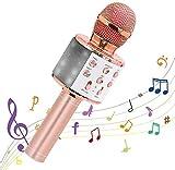 4 in 1 Portable Karaoke Microphone Wireless Bluetooth Handheld Toy Mic Speaker Home