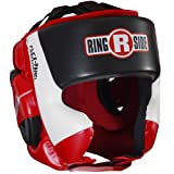Ringside Ultra Light Sparring Headgear, Red/Black, Large
