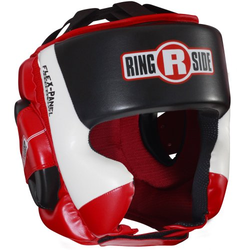 Ringside Ultra Light Sparring Headgear, Red/Black, Medium