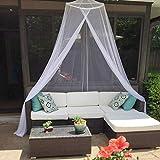 esafio Moskitonetz Bett, Groß Mückennetz inkl. Montagematerial,  Moskitoschutz Doppelbetten mit extra großem Spannring für Zuhause auch auf der Reise - 8