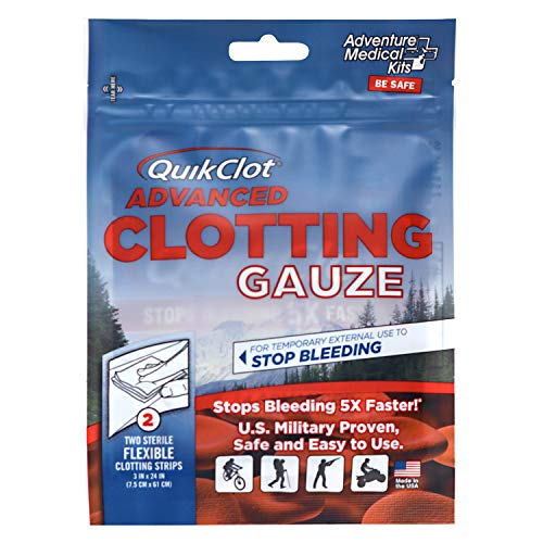QuikClot Advanced Clotting Gauze - 3 x 24 in (2 Strips)