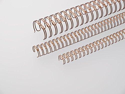 Renz One Pitch Drahtkamm-Bindeelemente in 2:1 Teilung, 23 Schlaufen, Durchmesser 19.0 mm, 3/4 Zoll, bronce