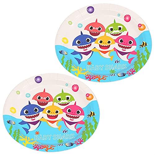 YSJJEFB Globos Decoración de la Fiesta de cumpleaños Baby Globo vajilla desechable Mantel de Tablas de Papel Placa de Papel Regalo de la Fiesta de Bienvenida al bebé ( Color : 7 Inch Plate 10pcs )