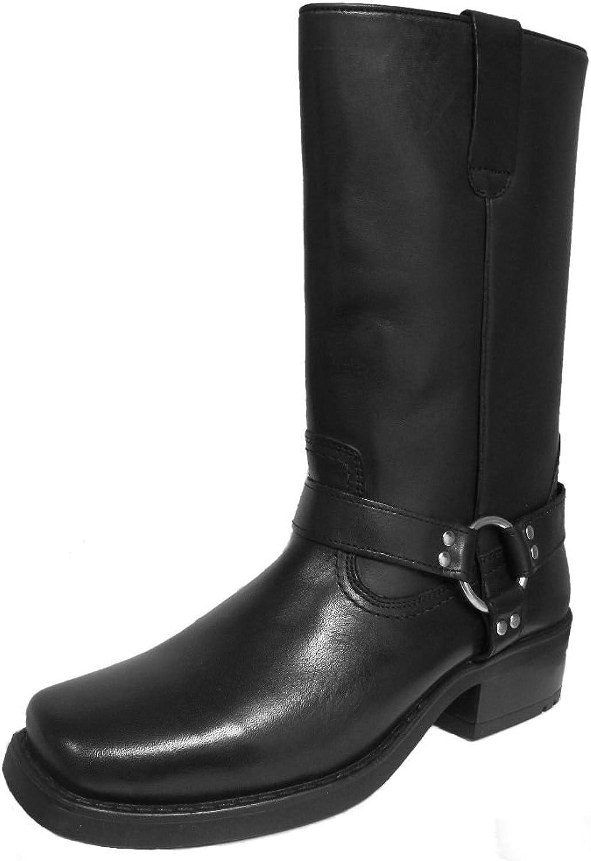 Gringos Men's 11  (28 cm) Pull On Western Harley Biker Harness Leather Boots