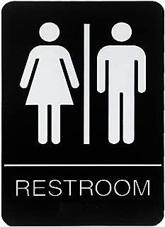 Restroom Braille Signs Unisex Women & Men 6
