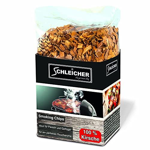 ACTIVA Schleicher Premium Räucherchips Kirsche Smoking Chips für optimales Raucharoma Beim Grillen 100% Natürliches Smoker-Holz geeignet für Kugel-, Stand- und Gas-Grill Extra große 800 g Packung