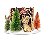 Bath and Body Works White Barn Forest Winter Scene Candle Holder Fox Squirrel Rabbit Holds 3 Wick Candle
