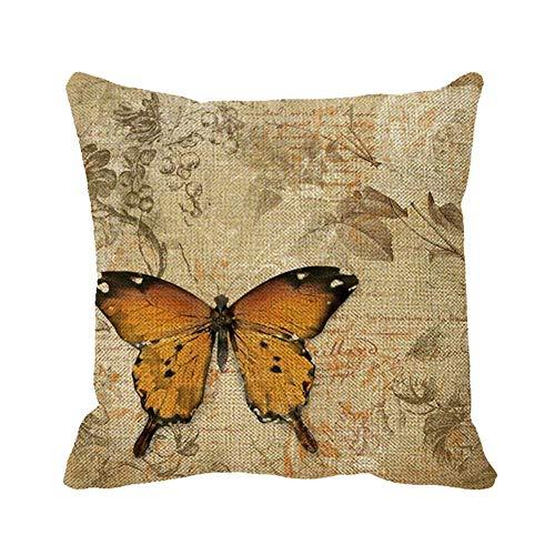 Egoa Throw Pillow Covers Funda De Cojín White Roses Vintage Butterfly 45X45Cm Suave Impresión A Doble Cara Cojines De Sofá Funda De Almohada Especial con Cremallera Funda De Almohada