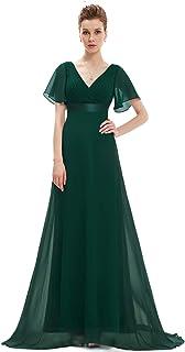 102f4aadf6e Ever-Pretty Robe de soirée en Double V-col et Manches Courtes 09890