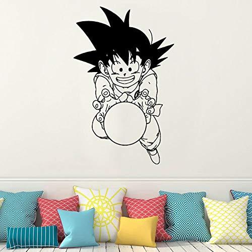 Wandtattoo, Cartoon, Japanse aap, anime, decoratie voor huis, jongens, slaapkamer, decoratie, vinyl, afneembaar, wanddecoratie