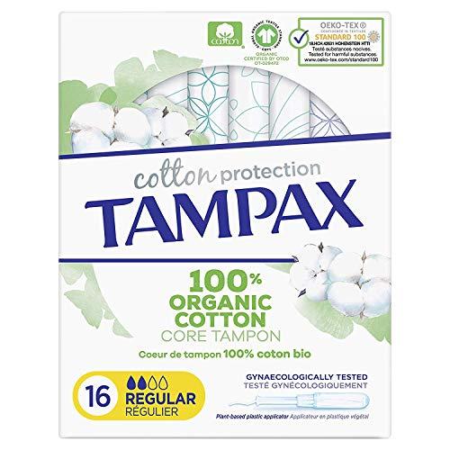 Tampax Cotton Stempel mit Applikatoren, 16 Stück