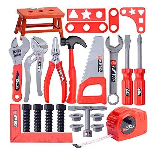 Werkzeugkoffer Kinder Elektrischem Spielzeug Werkzeugkasten 28/31 Stück DIY Reparieren Werkzeuge Rollenspiel Spiel Spielzeug Abnehmbares Für Weihnachten Geburtstag Puzzle Spielzeug Geschenk