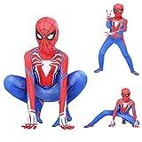 LGGQDC Disfraz De Iron Spiderman para Niños Mono De Superhéroe Traje De Disfraces para Adultos Mono de los Vengadores Papel Play Ropa Masquerade Mono De Cosplay De Halloween Onesies