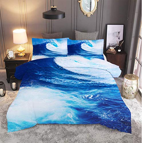 NTT Duvet Cover 3D Natural Scenery Bed Sheet Duvet Cover Pillowcase 2 3Pcs Queen Bedding Sets Home Textile 150 * 200Cm