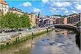 NOBRAND Rompecabezas Rompecabezas De 1000 Piezas Rompecabezas Casco Antiguo De Bilbao País Vasco España para Regalo Familiar para Adultos