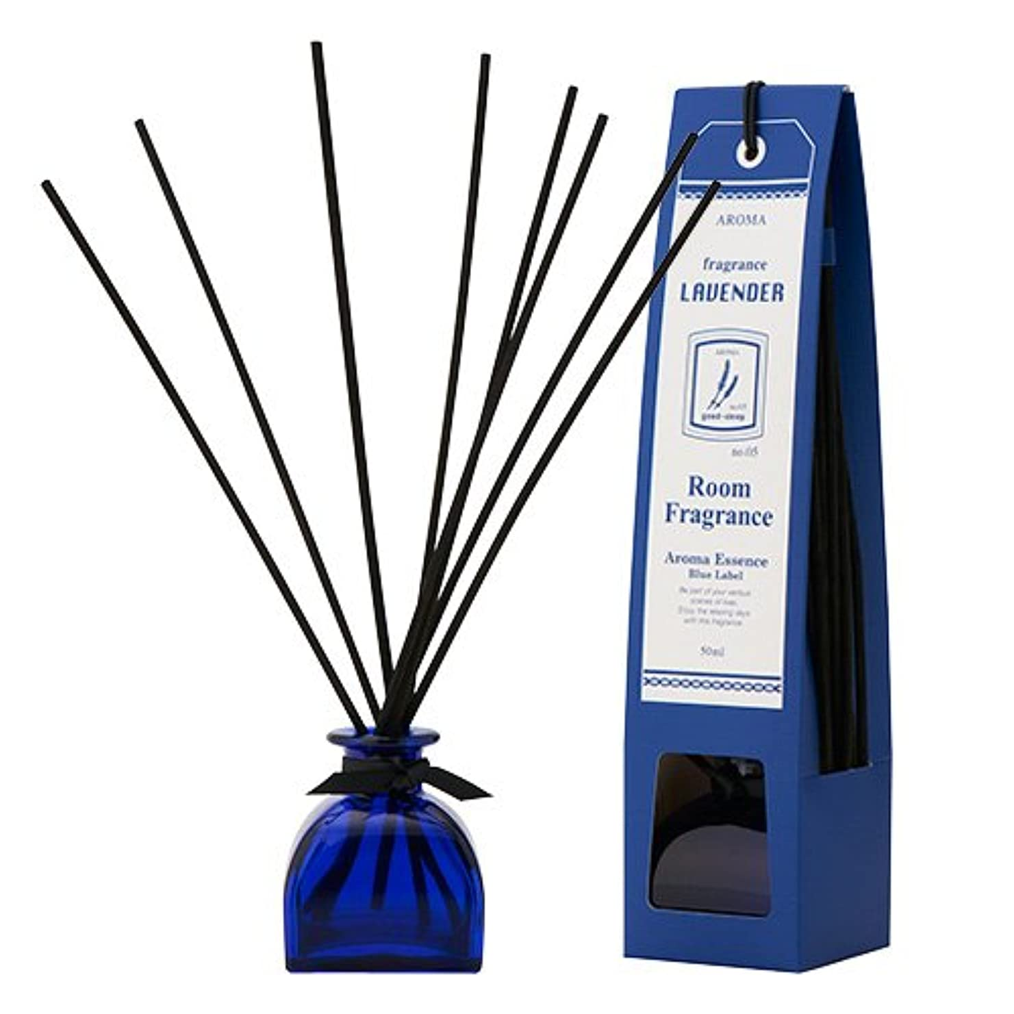 粘液調整にはまってブルーラベル ルームフレグランス ラベンダー 50ml(芳香剤 リードディフューザー 心落ち着ける清々しい香り)