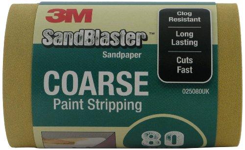 3M 025080UK SandBlaster Schleifpapier-Rolle zum Abbeizen, 115mm x 2,5m