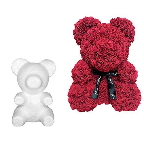 Oulensy 1Pcs Modellierung Polystyrol Styropor weißer Schaum Form des Bären Teddy Geburtstags-Party-Hochzeits-Dekoration