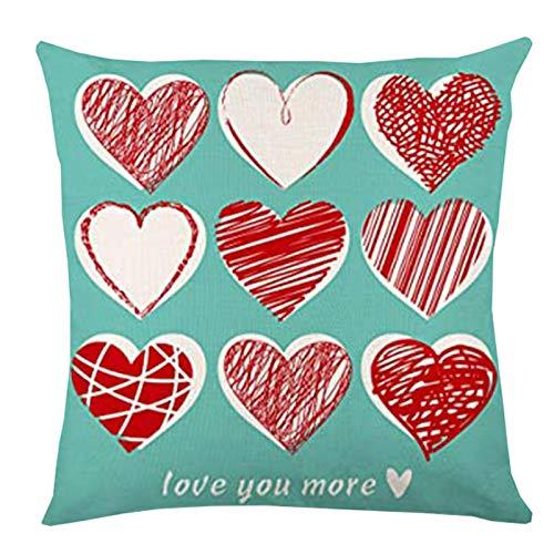 Sylar Bolso Funda de Almohada para el día de San Valentín Funda de cojín con Purpurina para sofá, decoración del hogar, Funda de Almohada, día de San Valentín