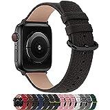 Fullmosa Cinturino per Apple Watch 38 mm/40 mm, Cinturini Pelle Compatibile con Apple Watch Serie SE 6 5 4 3 2 1, Sport, Nike+, Hermès, Edition, Spazio Grigio + Fibbia di Bronz