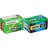 【セット買い】FUJIFILM カラーネガフイルム フジカラー 100135 FUJICOLOR-S 100 36EX 1 & FUJIFILM リバーサルフィルム フジクローム Velvia 100 35mm 36枚 1本 135 VELVIA100 NP 36EX 1